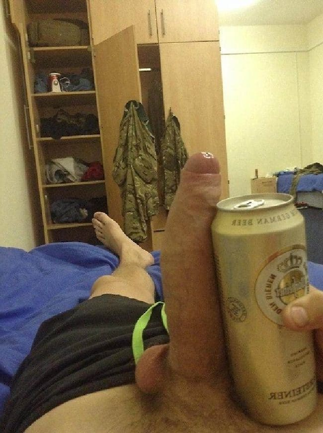 Cock And Beer Can
