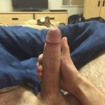 Horny Guy Wanking His Hard Uncut Cock