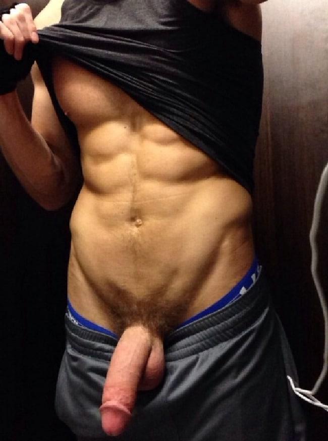 Big dick in sweatpants