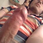 Webcam Guy Showing Hard Uncut Cock
