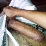 Man Have His Thick Uncut Cock Out