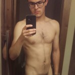 Guy With Glasses Showing Soft Cock
