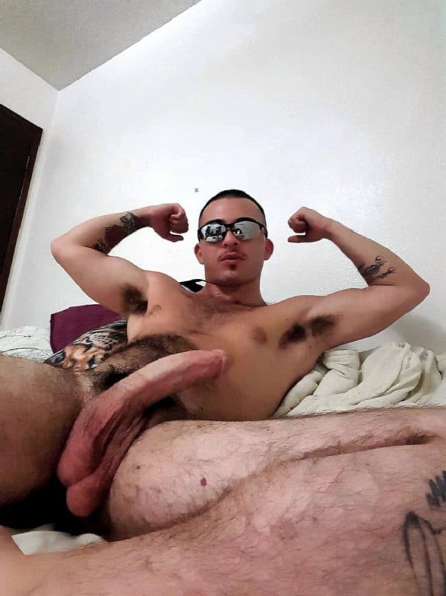 Nude Man Showing Cock