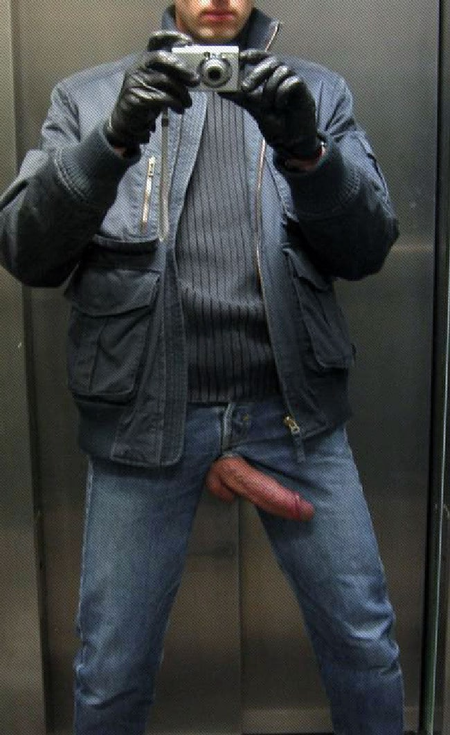 Man Have His Big Cock Hanging Out - Men Showing Cocks