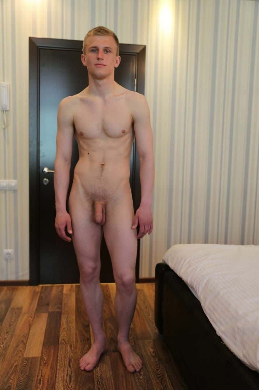 Guy with flaccid penis